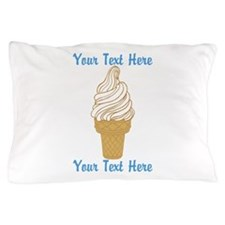 Personalized Ice Cream Cone Pillow Case
