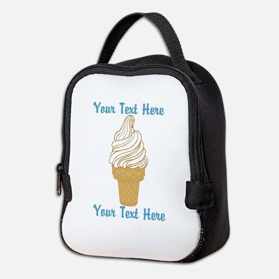 Personalized Ice Cream Cone Neoprene Lunch Bag