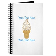 Personalized Ice Cream Cone Journal