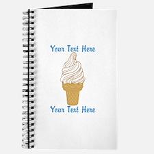 Personalized Ice Cream Cone Journal