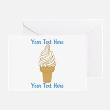 Personalized Ice Cream Cone Greeting Card