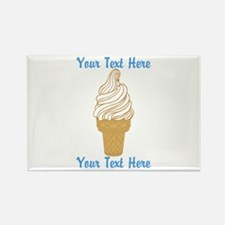 Personalized Ice Cream Cone Rectangle Magnet