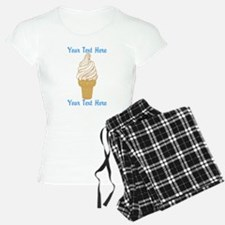 Personalized Ice Cream Cone Pajamas