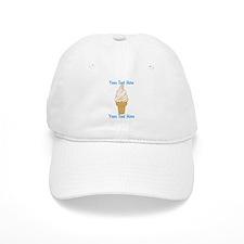 Personalized Ice Cream Cone Baseball Baseball Cap