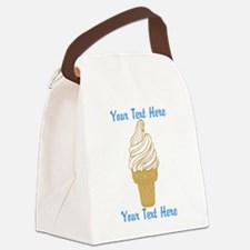 Personalized Ice Cream Cone Canvas Lunch Bag