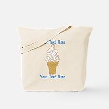Personalized Ice Cream Cone Tote Bag