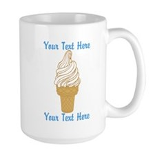 Personalized Ice Cream Cone Mug