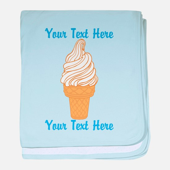 Personalized Ice Cream Cone baby blanket