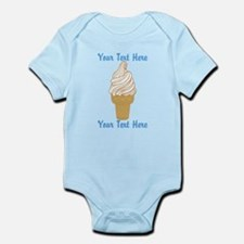 Personalized Ice Cream Cone Infant Bodysuit