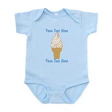 Personalized Ice Cream Cone Onesie