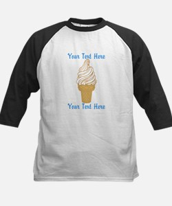 Personalized Ice Cream Cone Kids Baseball Jersey