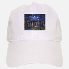 Van Gogh Starry Night Over The Rhone Baseball Baseball Cap