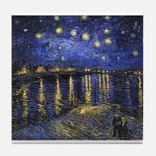 Van Gogh Starry Night Over The Rhone Tile Coaster