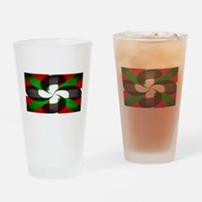 Basque Flag and Cross Drinking Glass