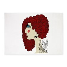 Curly Hair Just Don't Care 5'x7'Area Rug