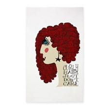 Curly Hair Just Don't Care Area Rug