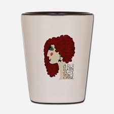 Curly Hair Just Don't Care Shot Glass