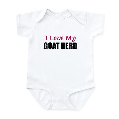 I Love My GOAT HERD Infant Bodysuit