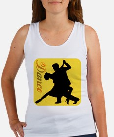 Dance Couple Silhouette Tank Top