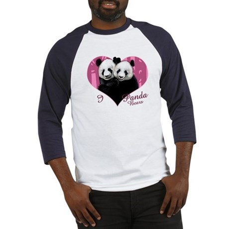 I Love Panda Bears Baseball Jersey
