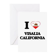 I love Visalia California Greeting Cards