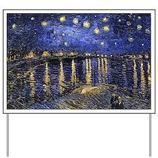 Van Gogh Starry Night Over The Rhone Yard Sign