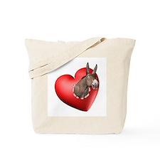 Donkey Heart Tote Bag