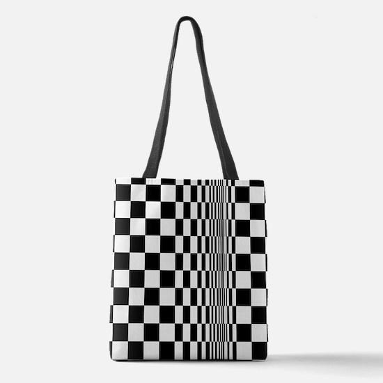 Op Art Curl Polyester Tote Bag