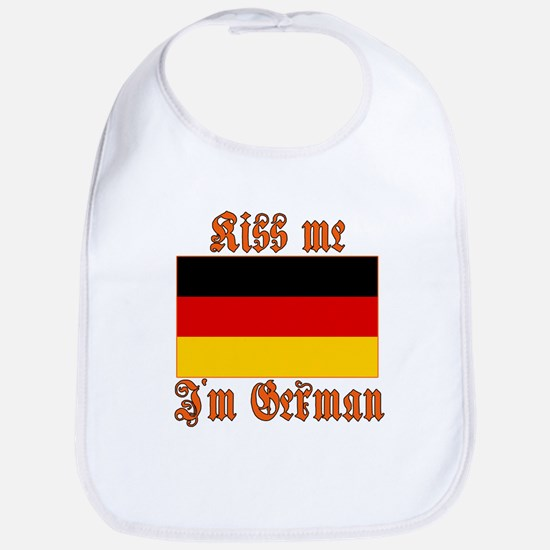 Kiss Me I'm German Bib