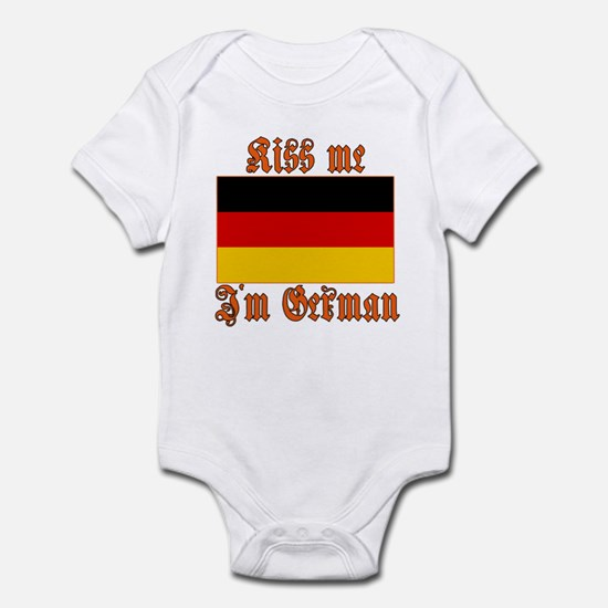 Kiss Me I'm German Infant Bodysuit