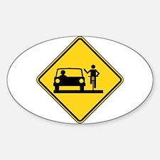 Move Over Jerk Sticker (Oval)