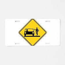 Move Over Jerk Aluminum License Plate