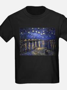 Van Gogh Starry Night Over The Rhone T-Shirt