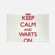 Keep Calm and Warts ON Magnets