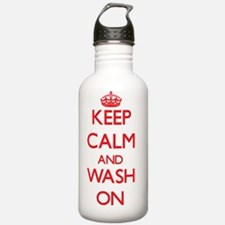 Keep Calm and Wash ON Water Bottle