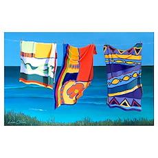 Beach Towels artwork Poster