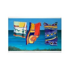 Beach Towels artwork Rectangle Magnet