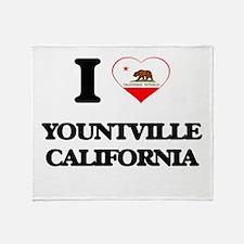 I love Yountville California Throw Blanket