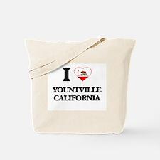 I love Yountville California Tote Bag