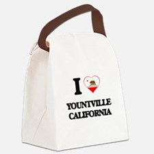 I love Yountville California Canvas Lunch Bag