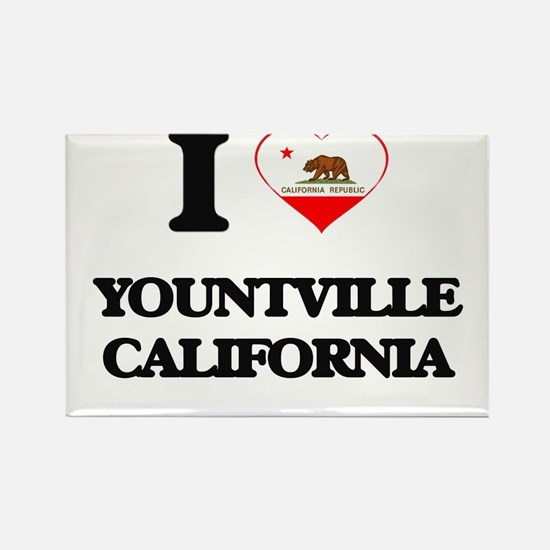 I love Yountville California Magnets