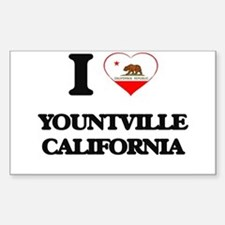 I love Yountville California Decal