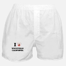 I love Yountville California Boxer Shorts