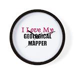 I Love My GEOLOGICAL MAPPER Wall Clock