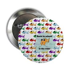 Back to School Fish Button
