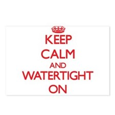 Keep Calm and Watertight Postcards (Package of 8)