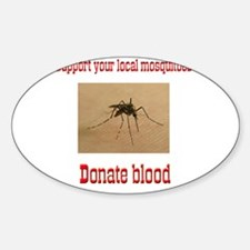 Donate Blood Mosquito Oval Decal