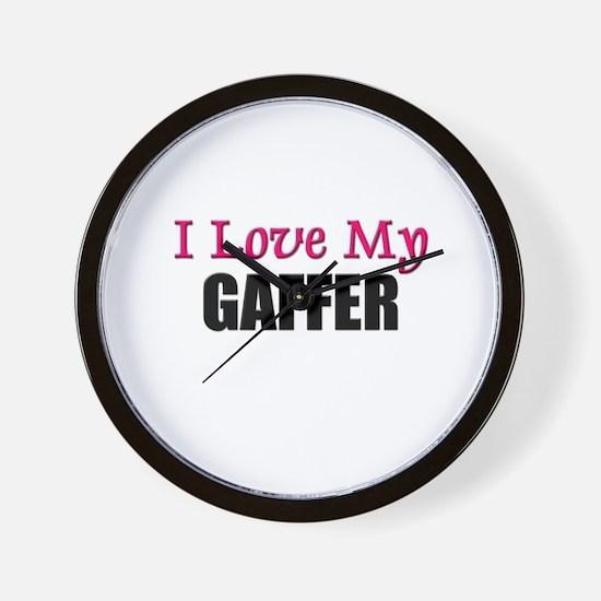I Love My GAFFER Wall Clock