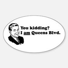 I Am Queens Blvd - Retro Oval Decal