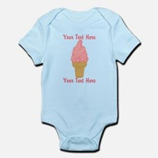 Personalized Pink Ice Cream Infant Bodysuit